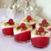 Kalorielet Blancmange dessert med jordbær og græsk yoghurt