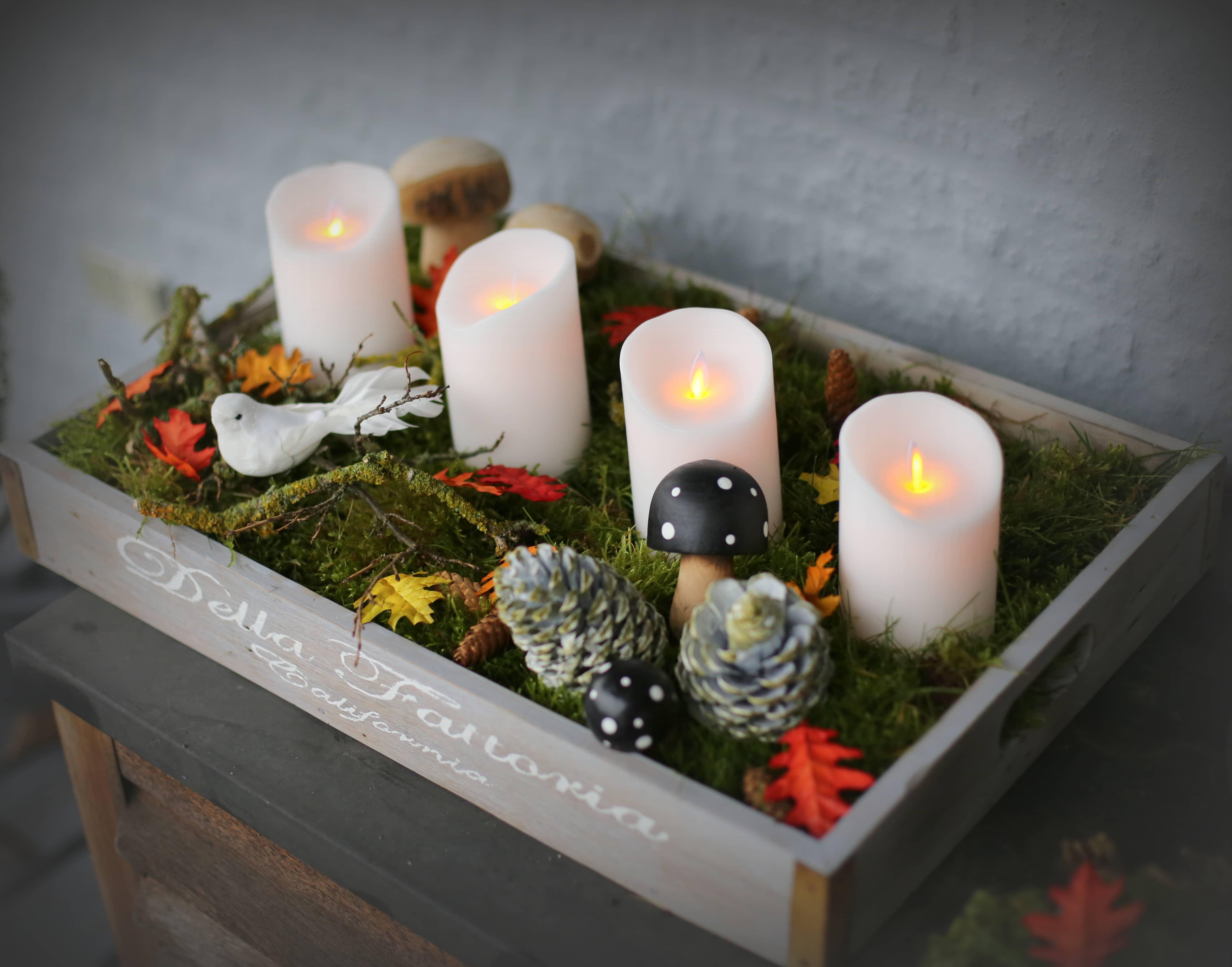 Inspiration til udendørs juledekoration, led lys, Sompex