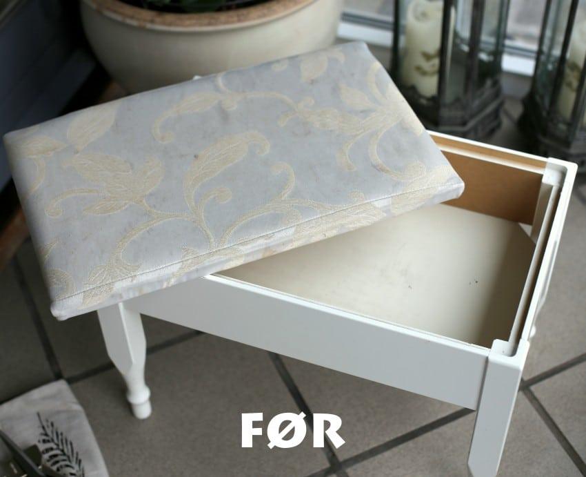 DIY Puff makeover til billige penge, gør det selv