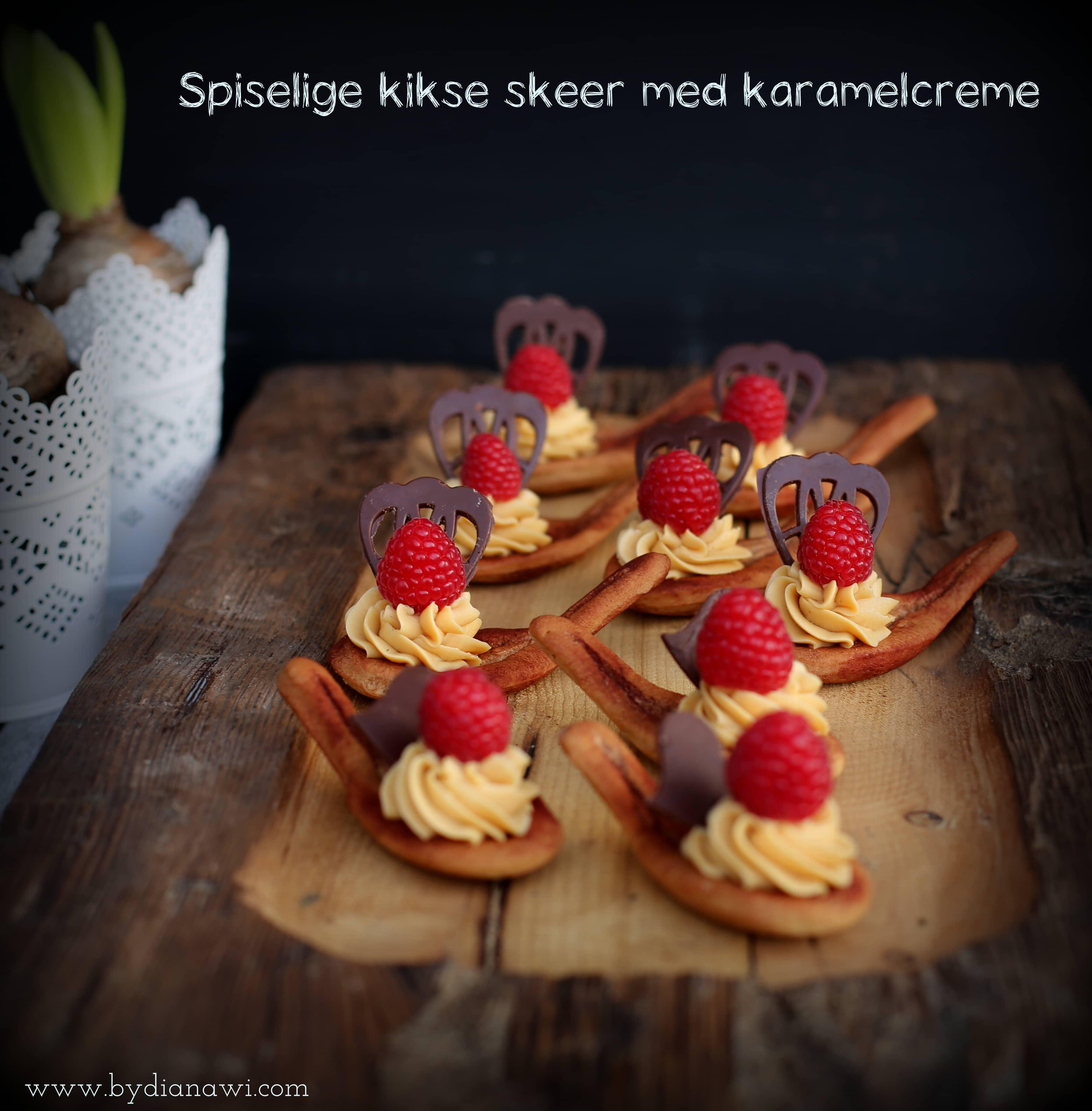 Spiselige kikse skeer med karamelcreme