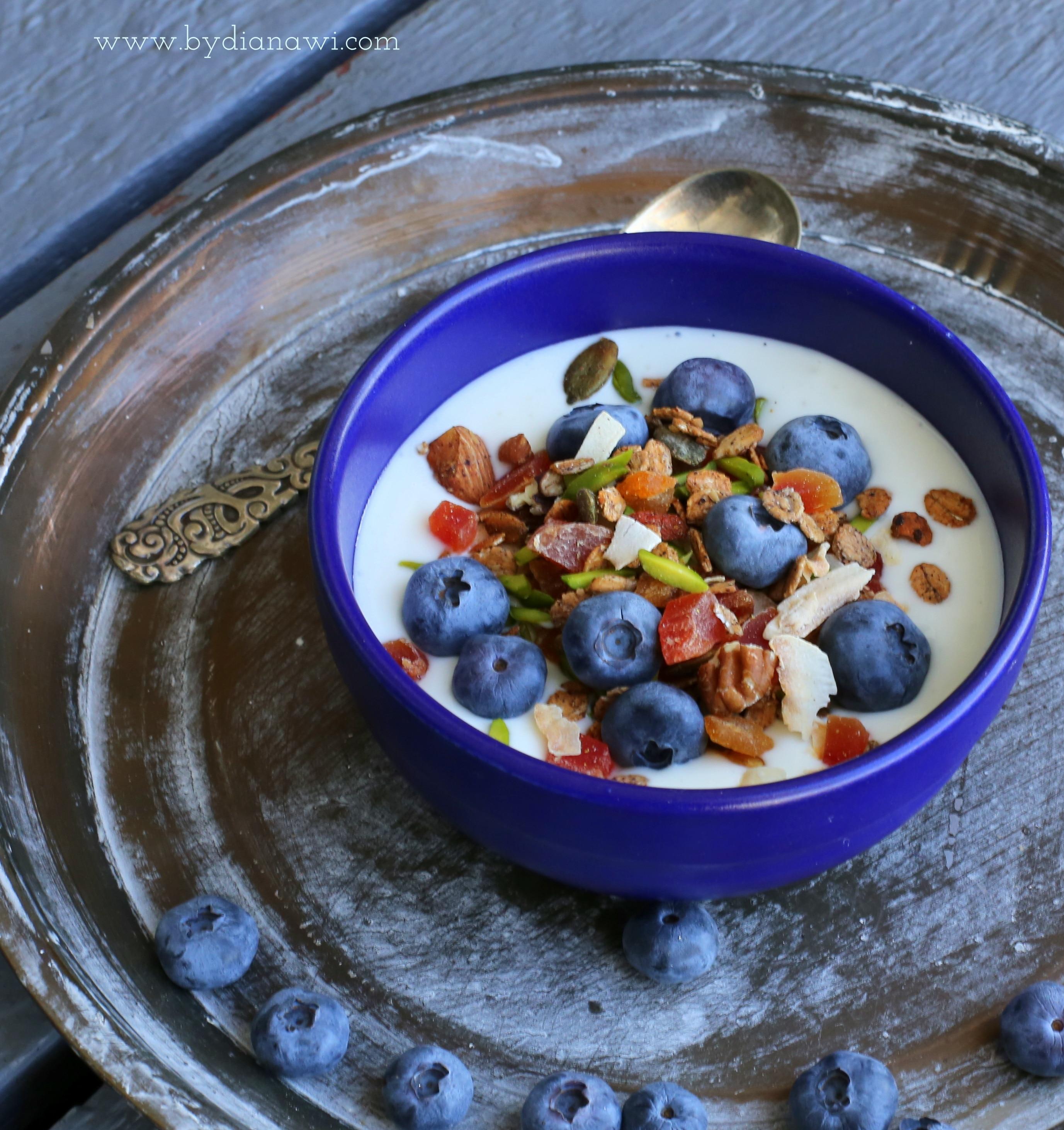 granola opskrift på hjemmelavet skyrdrys