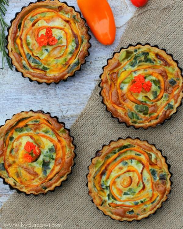 Små porretærter til frokost og madpakke ⋆ BY DIANAWI