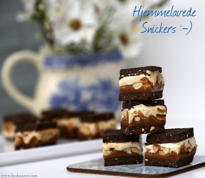Opskrift på hjemmelavede Snickers