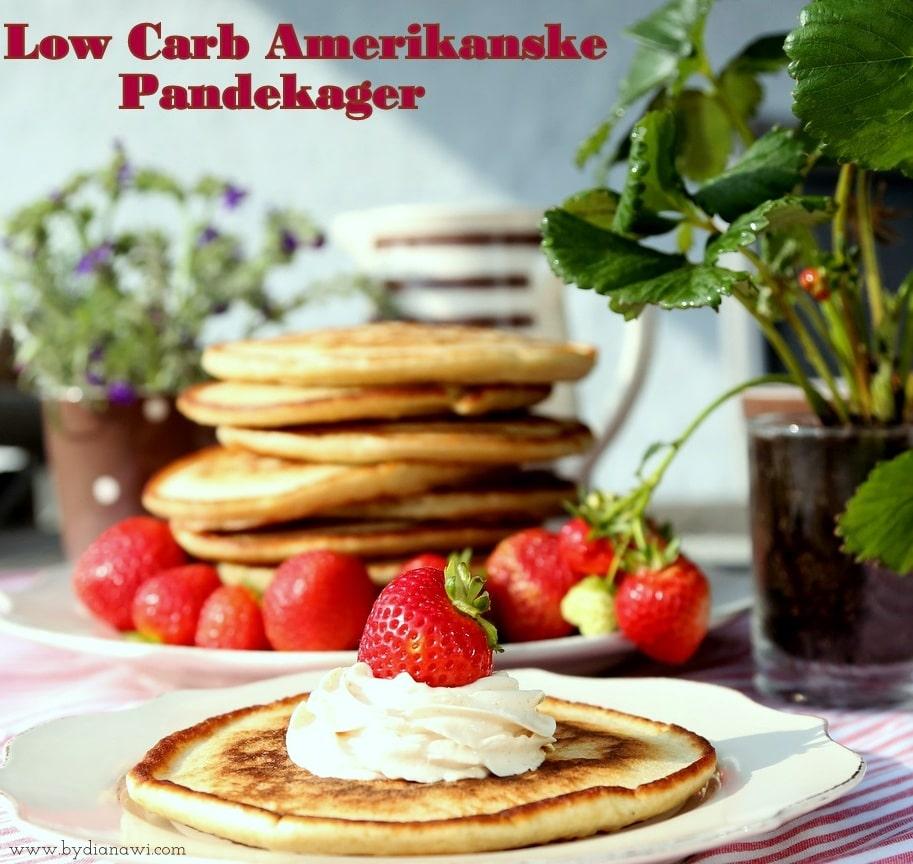 Low carb amerikanske pandekager