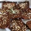 Hjemmelavede rugbrødschips og favorit dip