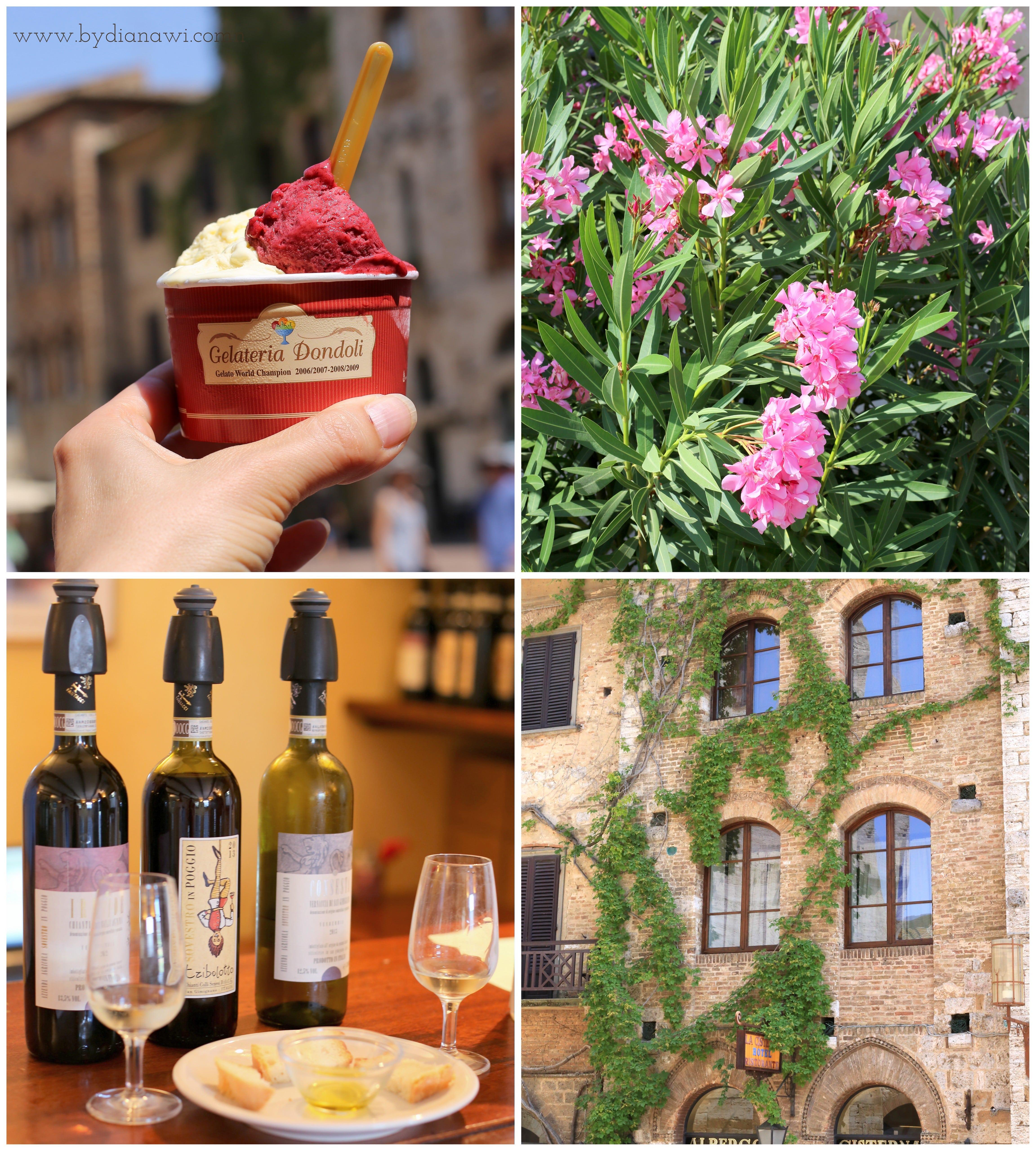 Berømt isbutik i San Gimignano, Toscana