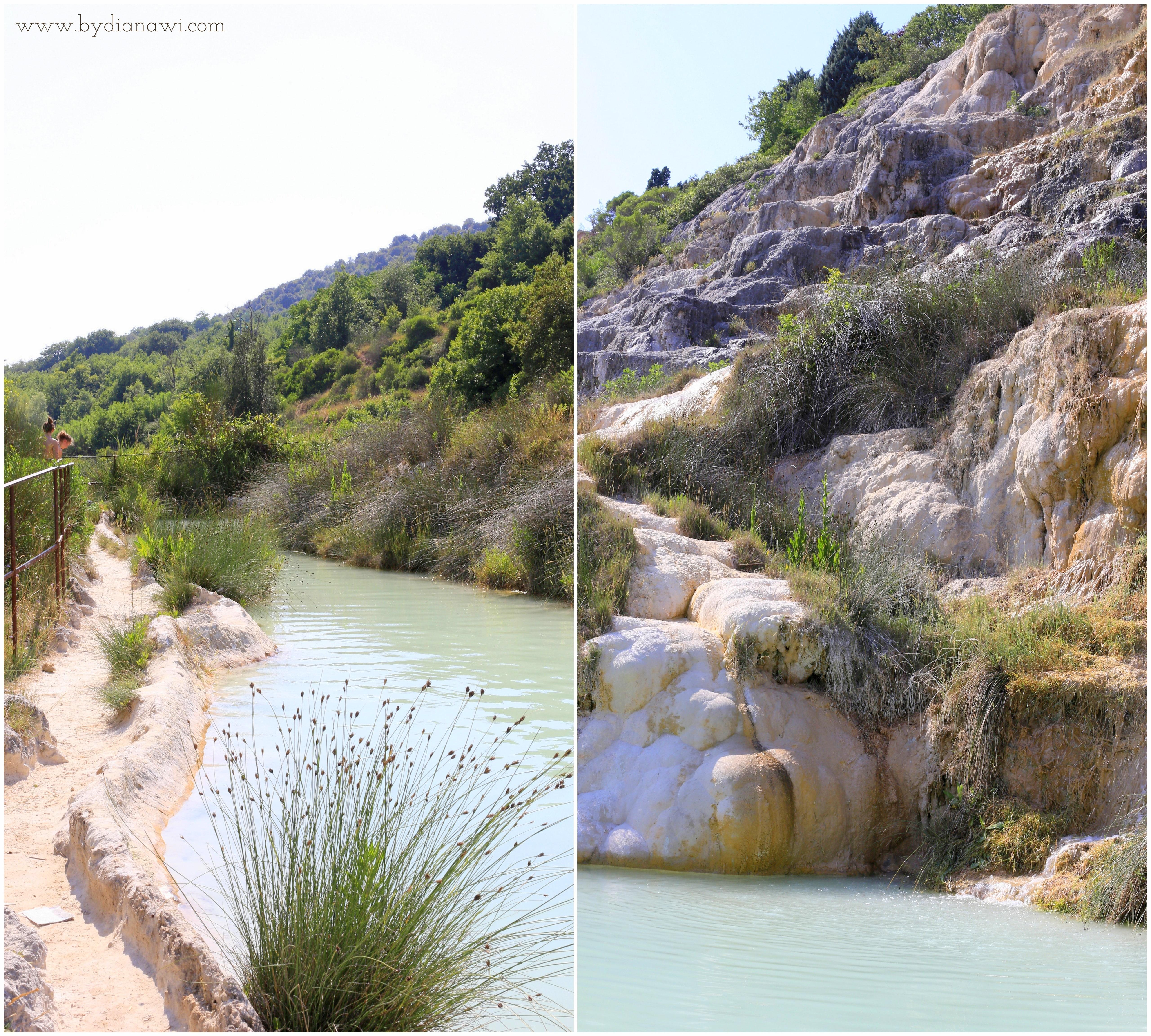 Bagno Vignoni mudderbadning, Toscana Italien