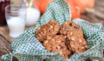 Opskrift på græskar cookies med chokolade, spelt og nødder