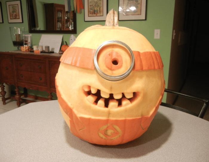 halloween minion græskar