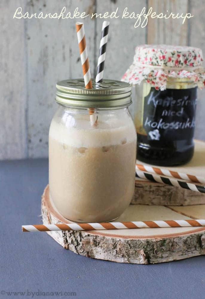 Opskrift på lækker protein bananshake med kaffesirup