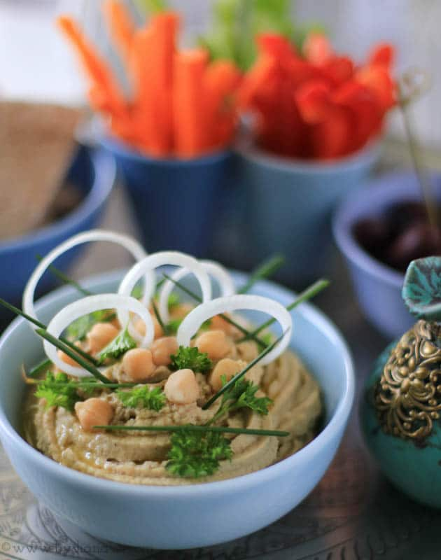 sunde snacks, hummus opskrift, starters, små retter