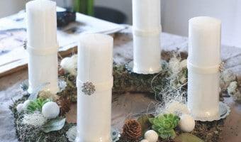 DIY rustik adventskrans af de smukkeste materialer fra naturen