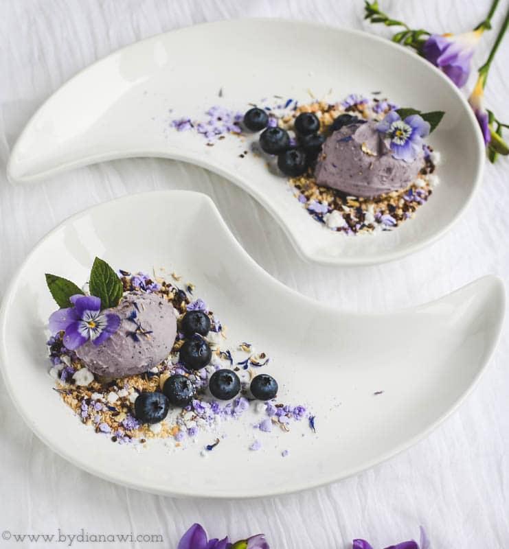 blåbæris opskrift, hjemmelavet is med ismaskine