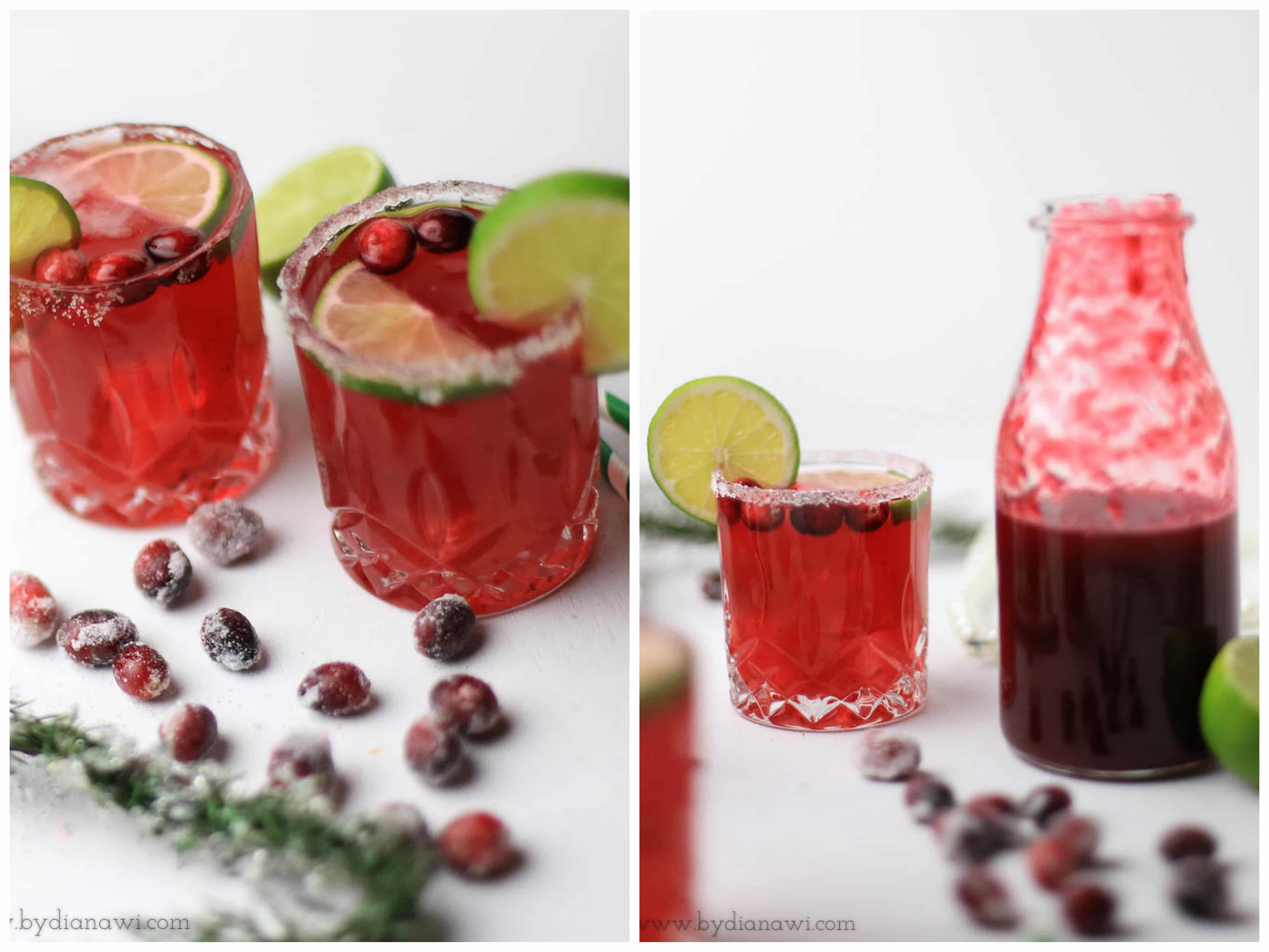 tranebær margarita, nytårs drinks, cocktail