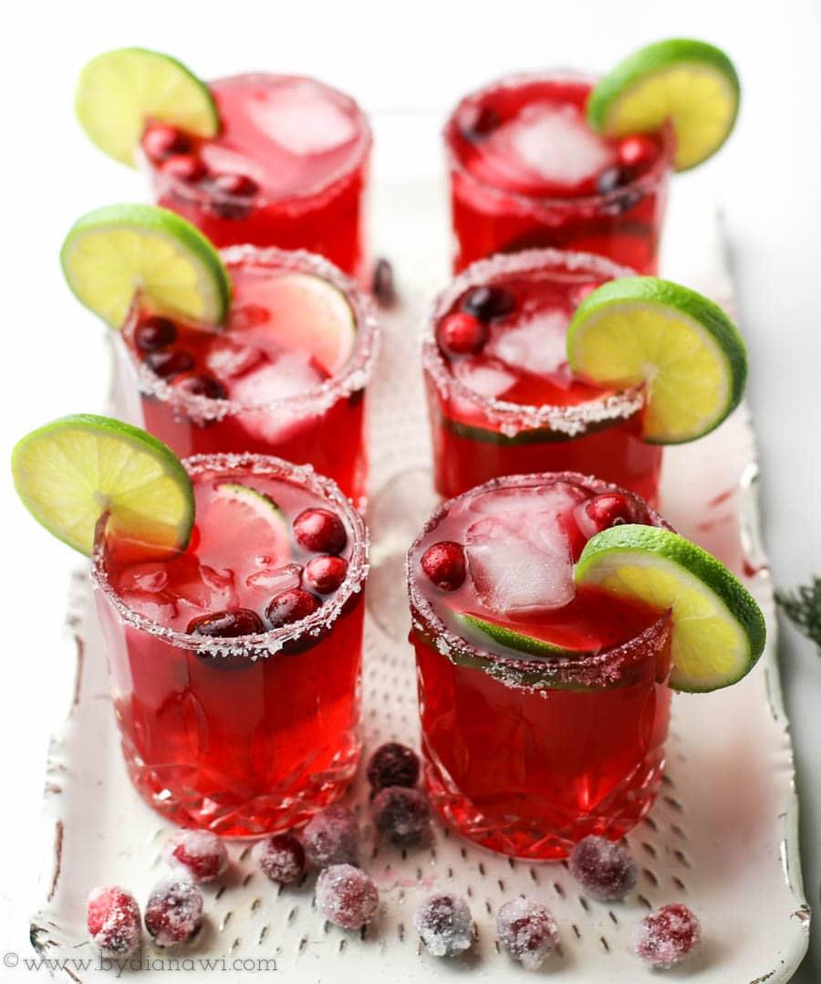tranebær margarita, nytårscocktail, drinks