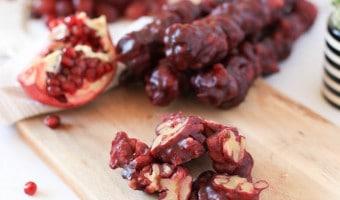 Churchkhela – opskrift på sød snack, uden sukker og med masser af sunde sager