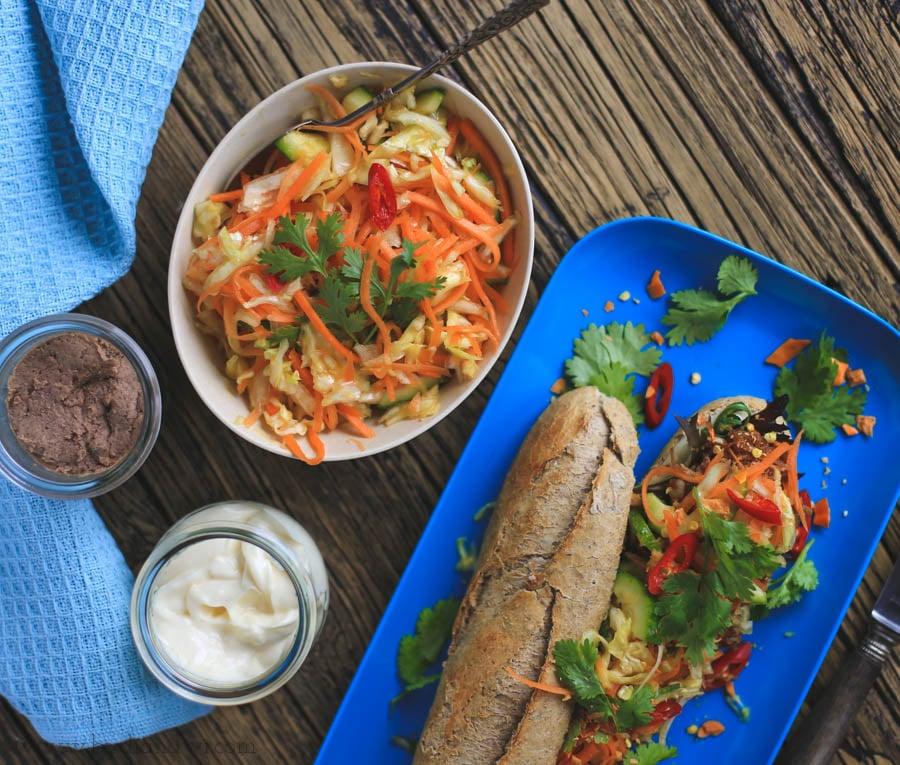 vietnamesisk sandwich, banh mi opskrift