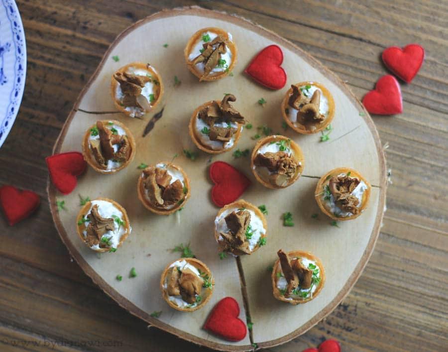 kanapeer, tapas, små hapsere, valentinsdag