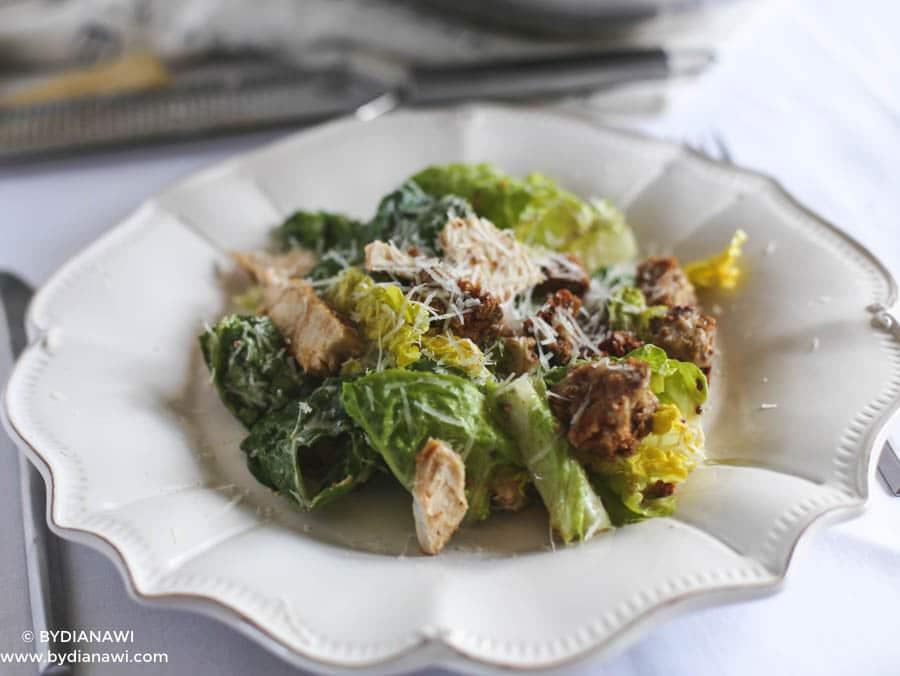 cæsar salat opskrift, kyllingefilet