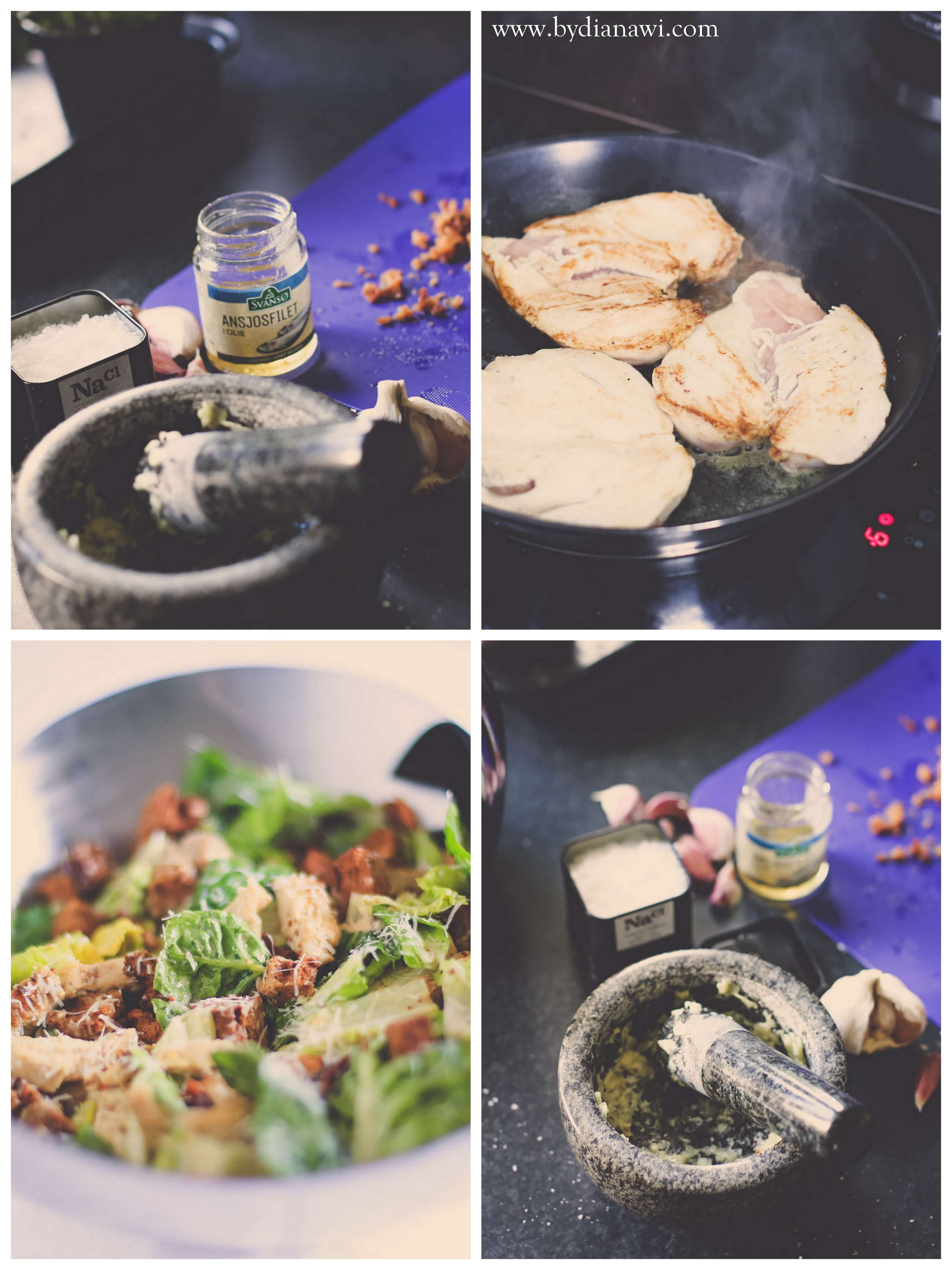 sådan steger du kyllingefilet saftigt og mørt, cæsar salat opskrift