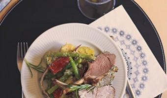 Lammekrone med bønnesalat