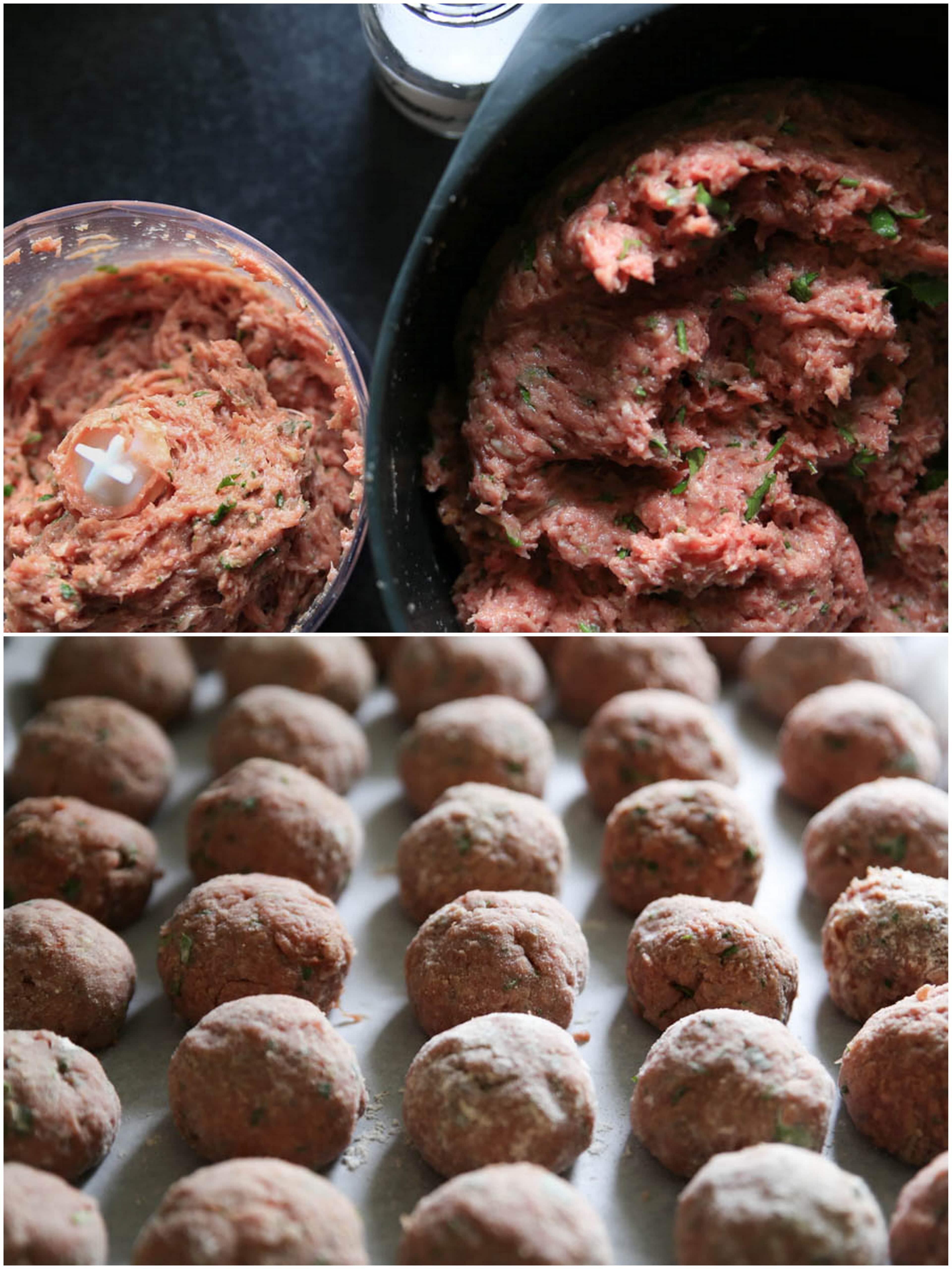 opskrift på italienske kødboller, let sommersalat