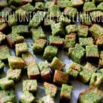 Croutoner med hjemmelavet basilikumolie