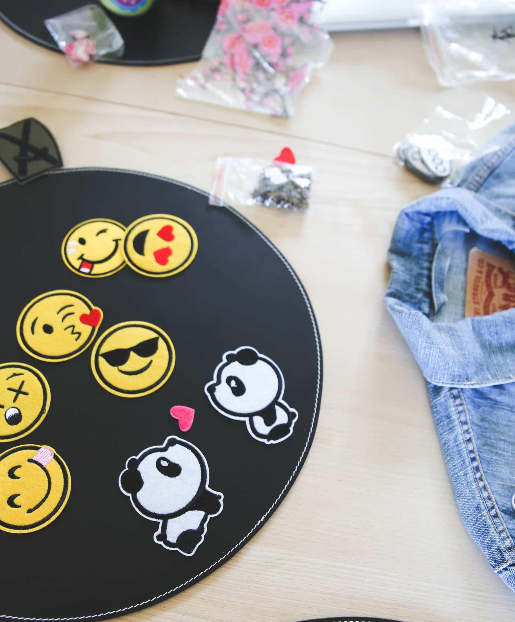 DIY gør det selv denim jakke makeover, strygemærker
