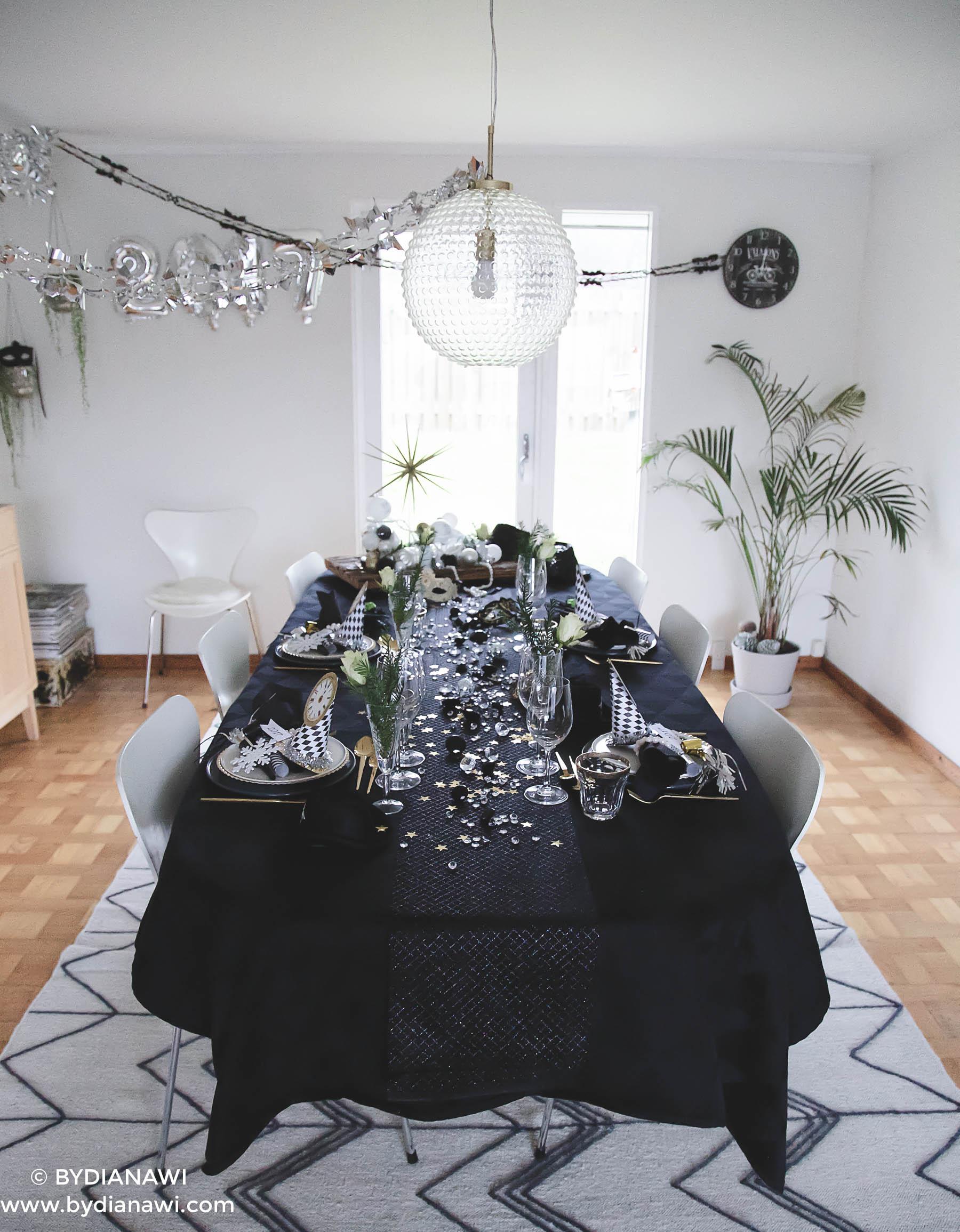 nytårsaften, borddækning nytårsaften, nytårsfest