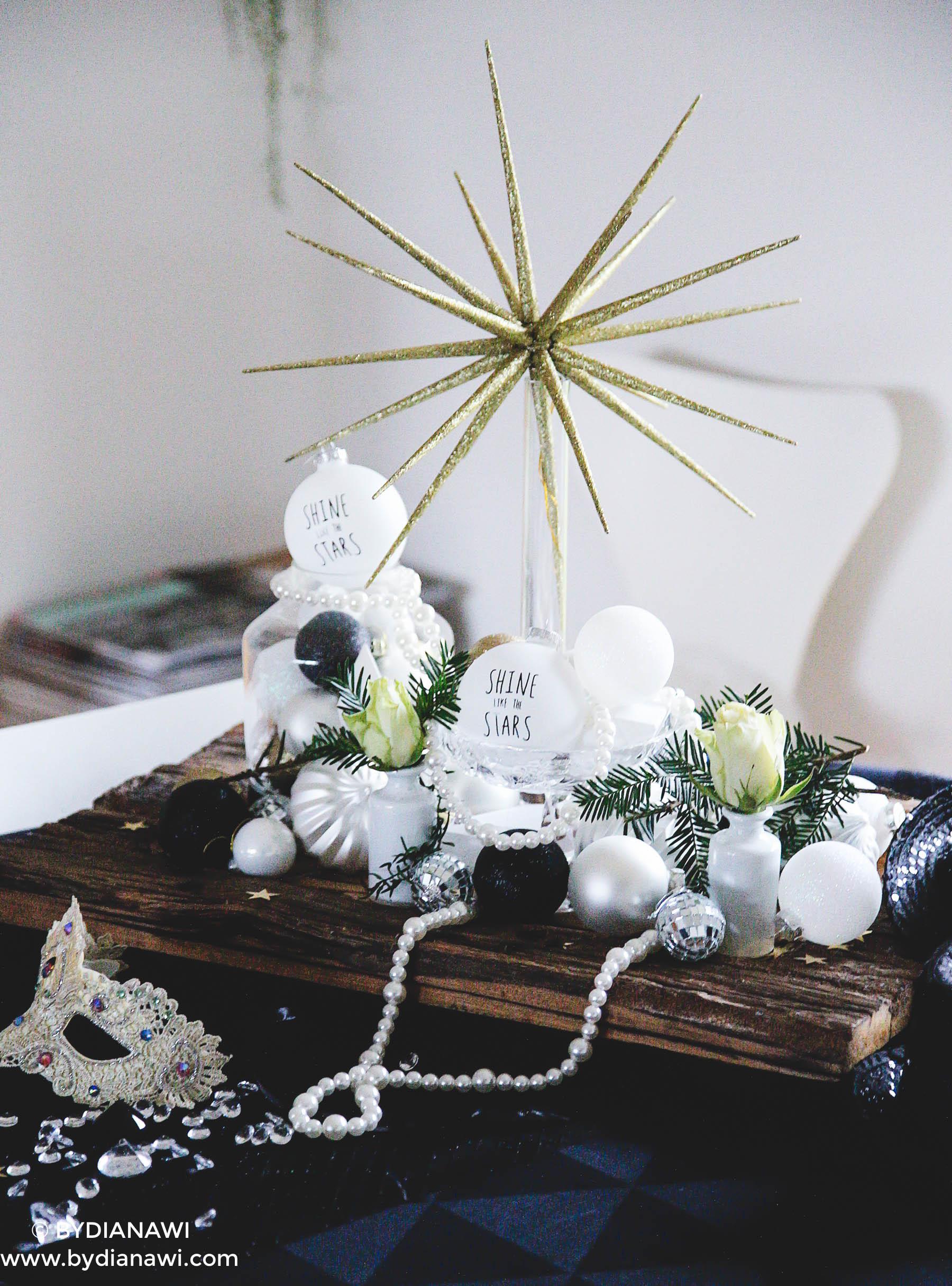 borddækning nytår, nytårsaften, nytårsfest, inspiration