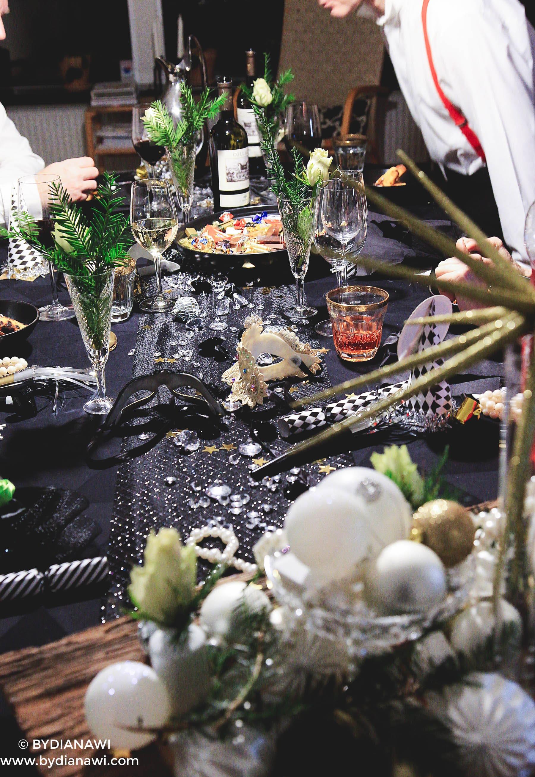 nytårsfest, borddækning nytår, inspiration