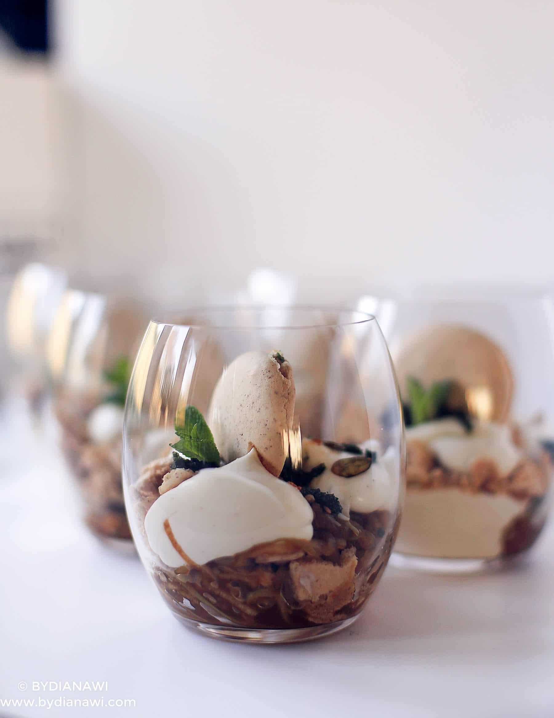 sund dessert, sund æblekage, makroner, spiralizer