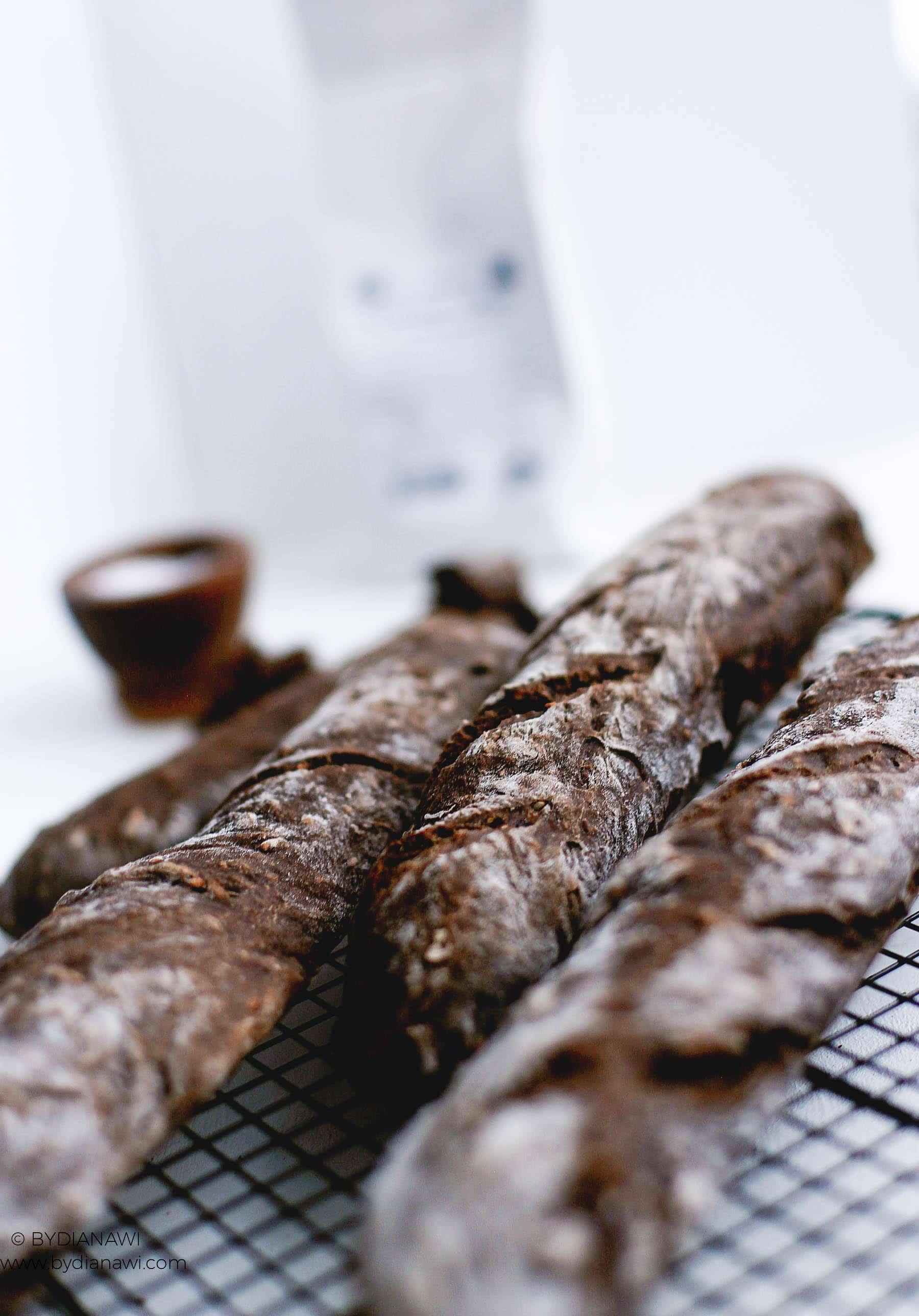 flutes opskrift, baguette, hjemmebagt brød