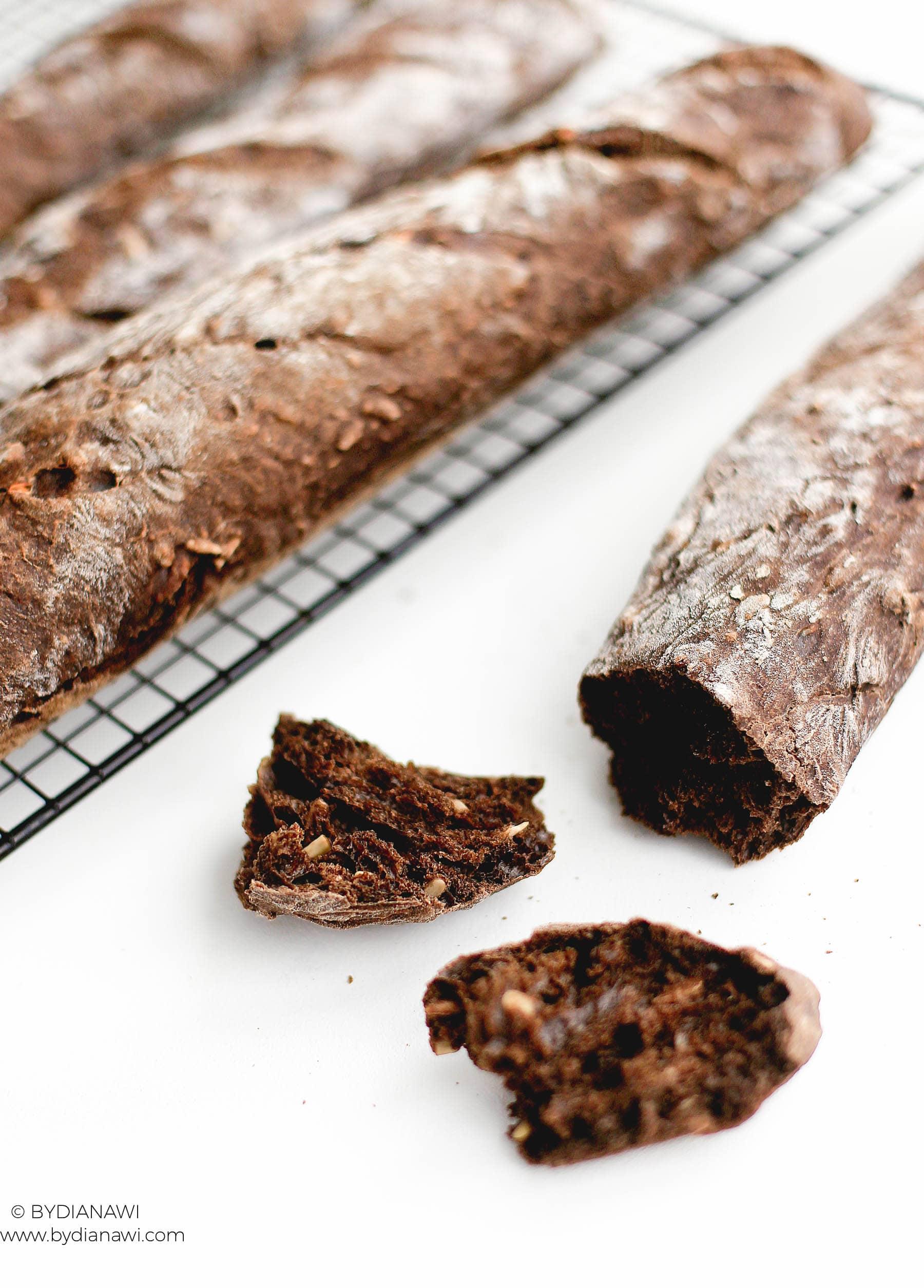 flutes opskrift, baguette, maltmel Aurion, hjemmemagt brød
