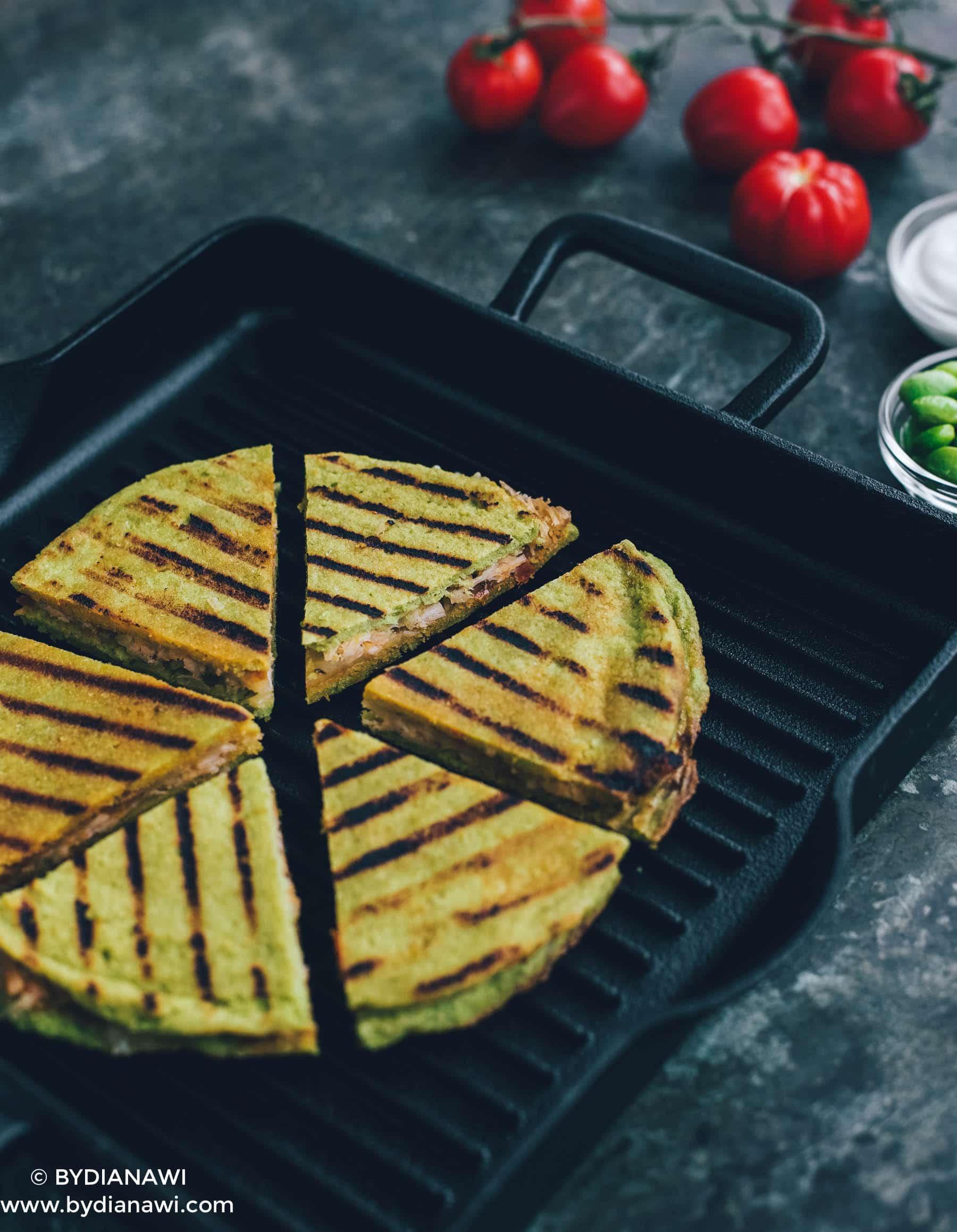 quesadillas, edamame tortillas, wraps, protein, low carbo