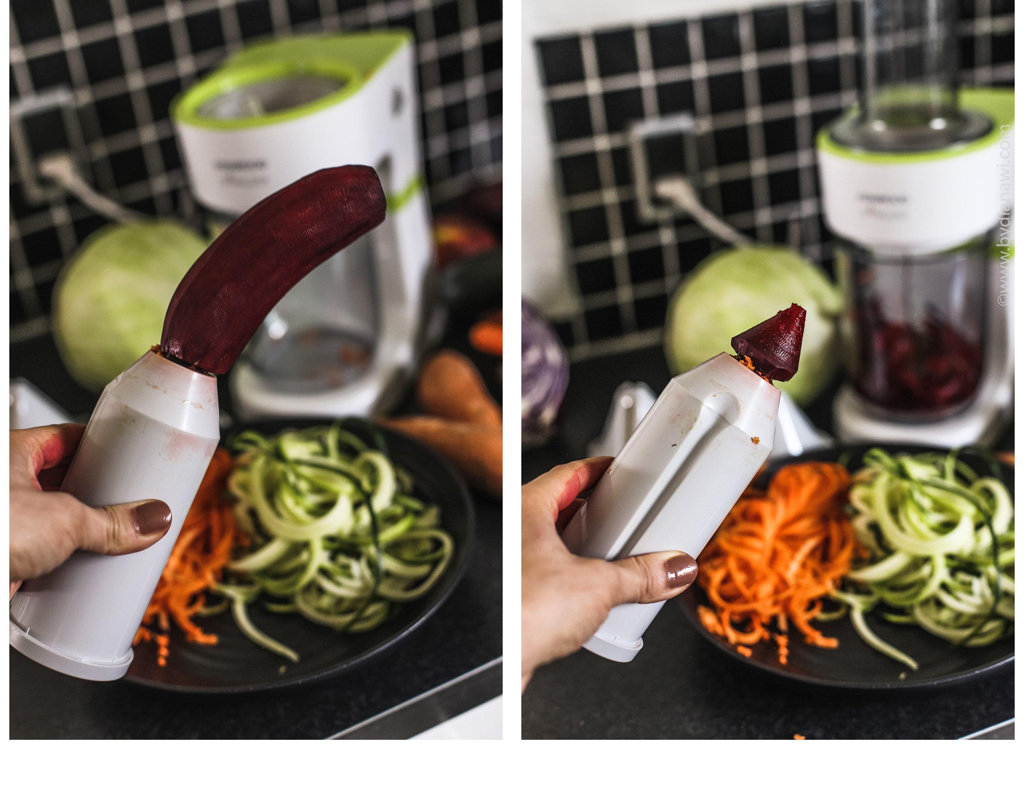 elektrisk spiralizer maskine Kenwood, grøntsagspasta maskine