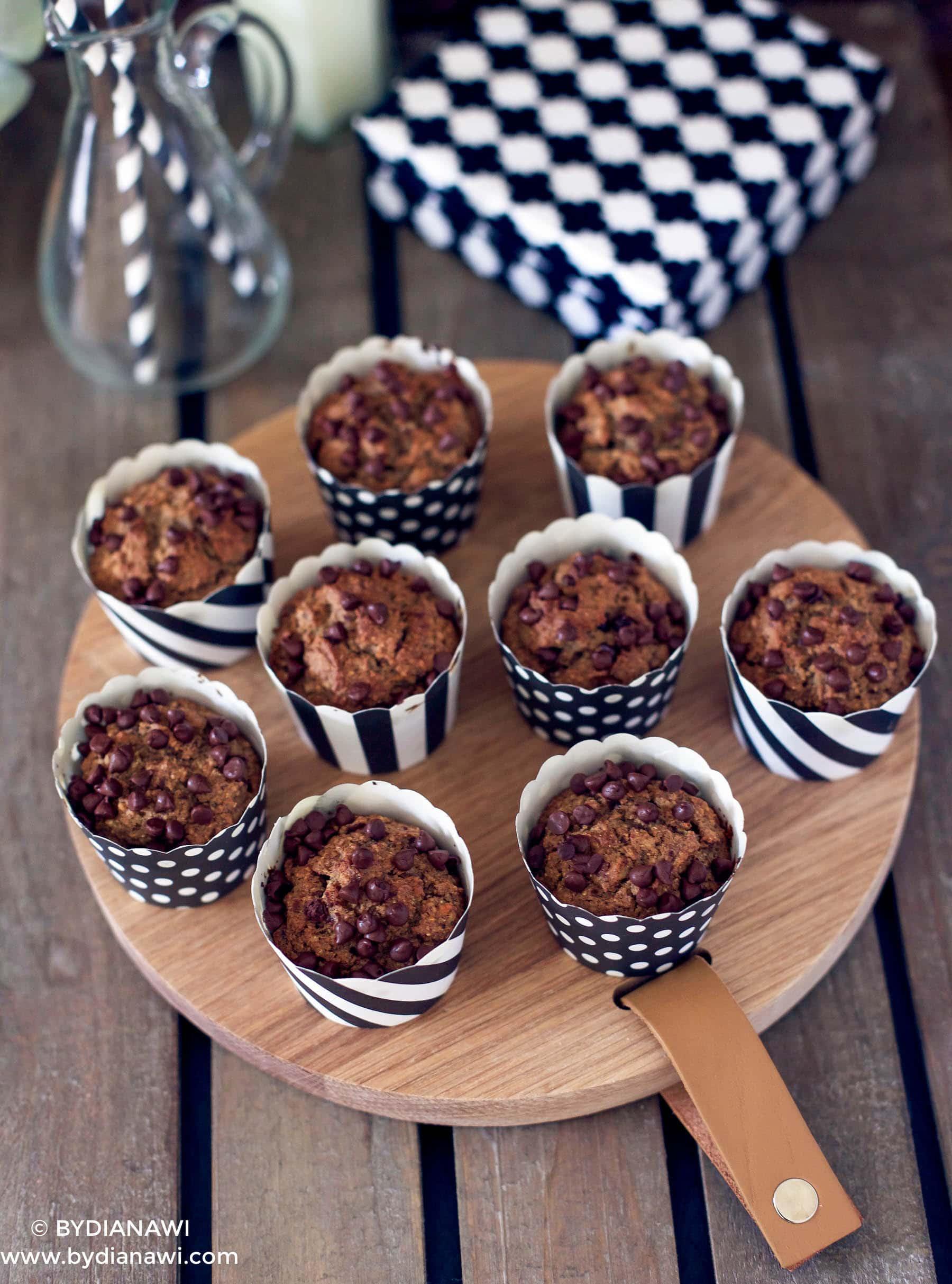 sunde bananmuffins uden sukker og uden mel, sund kage