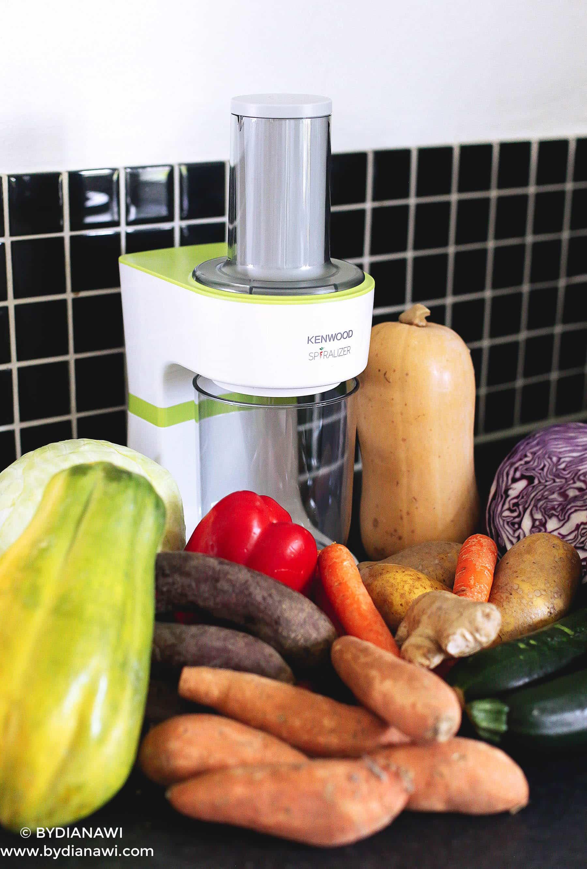 elektrisk spiralizer Kenwood, grøntsagspasta maskine
