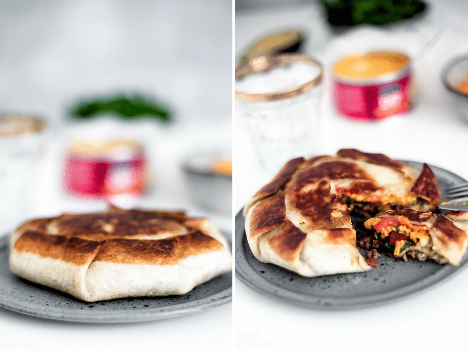 mexikansk mad, mexikanske pandekager, hverdagsmad, opskrift med tortilla
