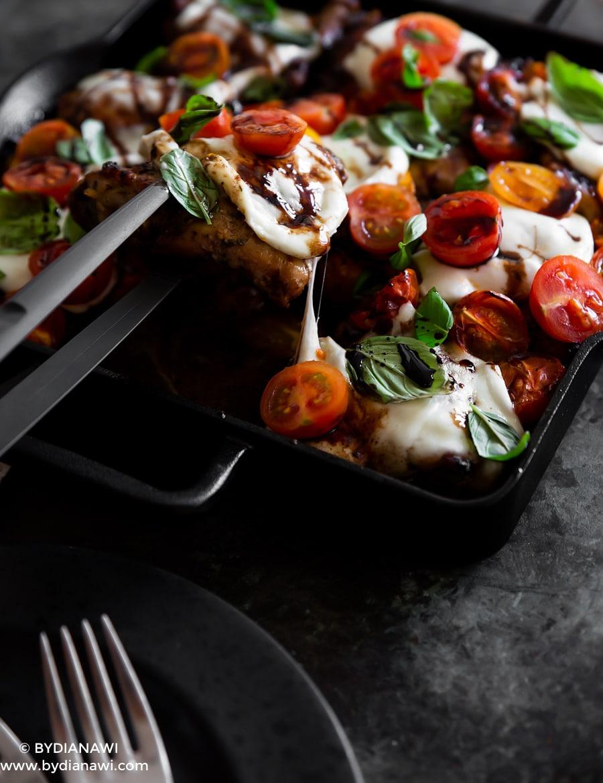 aftensmad med kylling, opskrifter med balsamico, caprese
