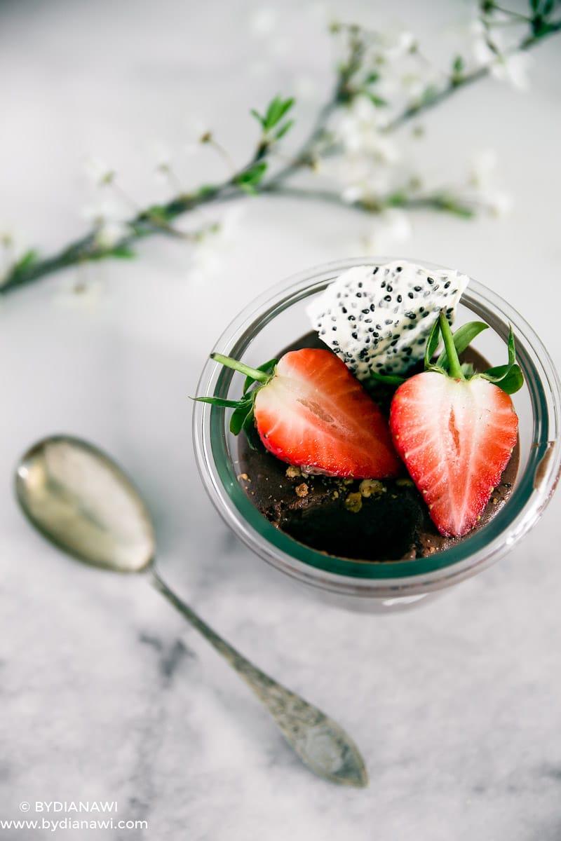 sund mellemmåltid, sund dessert med skyr