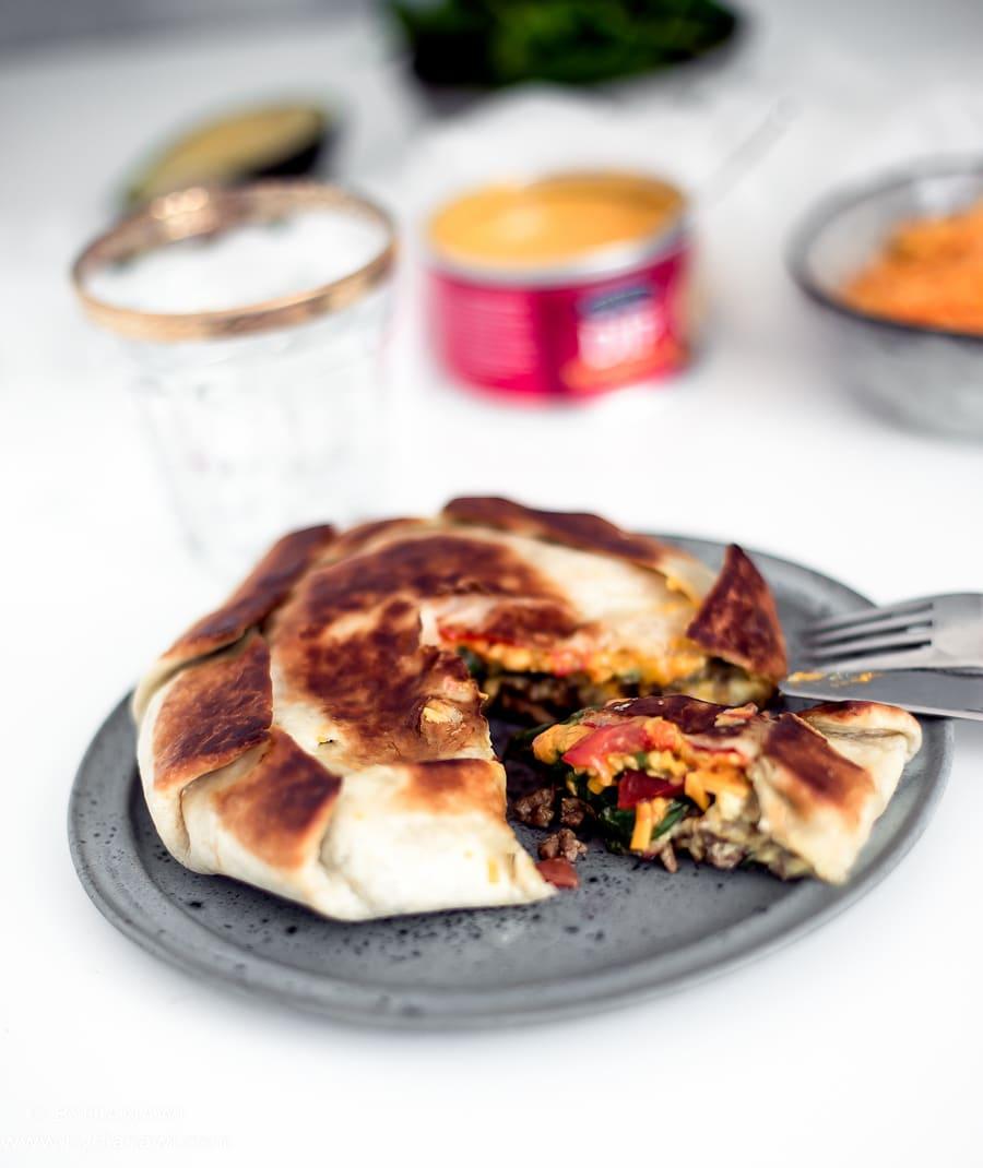 mexikanske pandekager, mexikansk mad, nem aftensmad