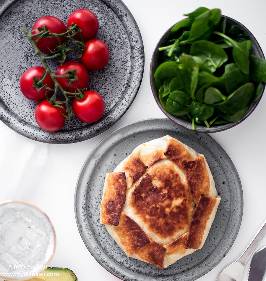 mexikanske pandekager, mexikansk mad, opskrift med tortilla, nem aftensmad