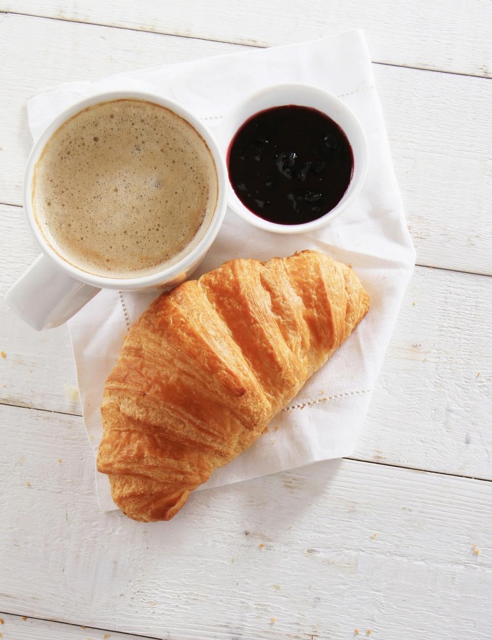 croissant, coffee, good morning, stå tidligt op, motivation