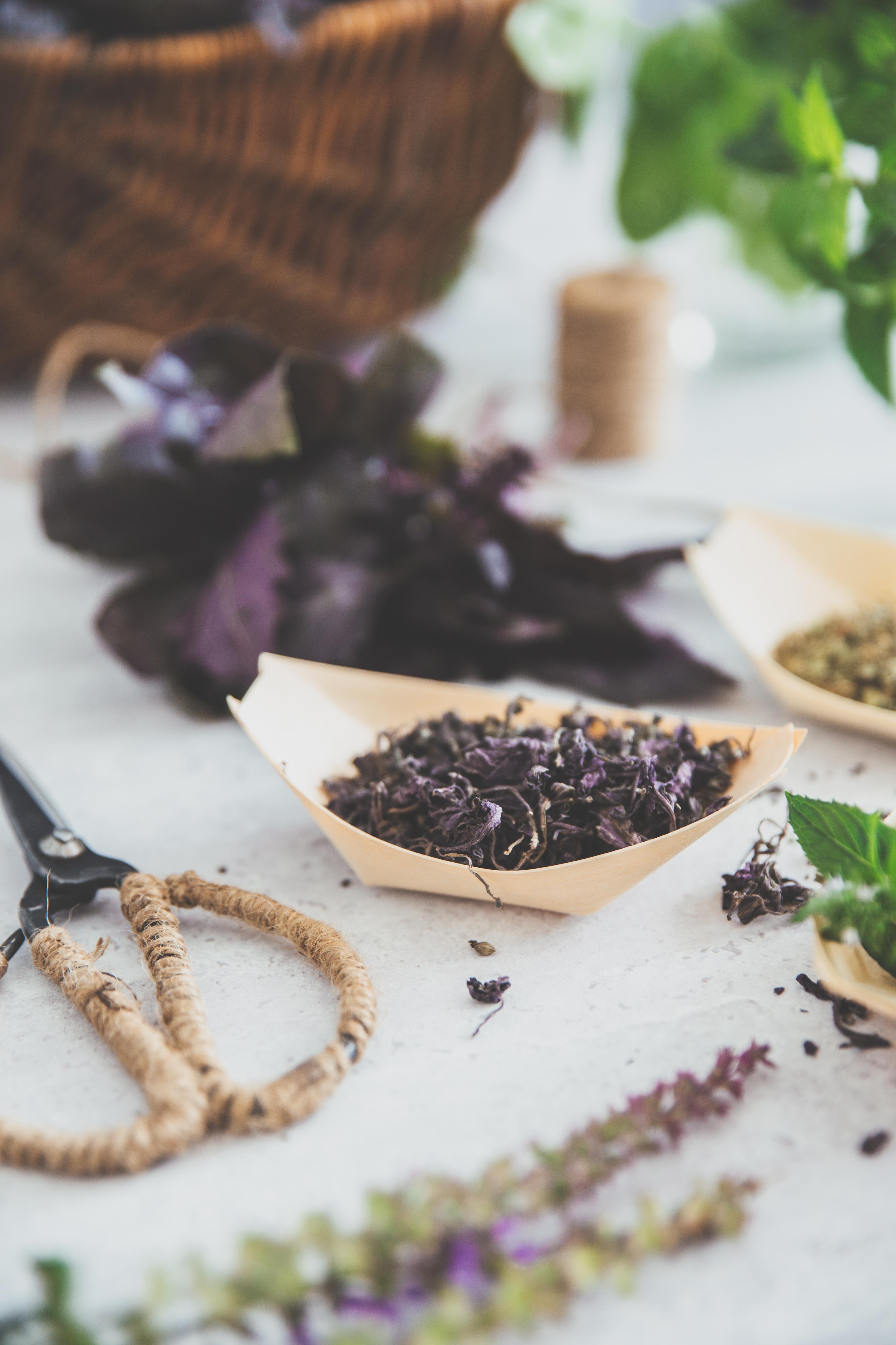 tørre krydderurter, estragon, basilikum, mynte