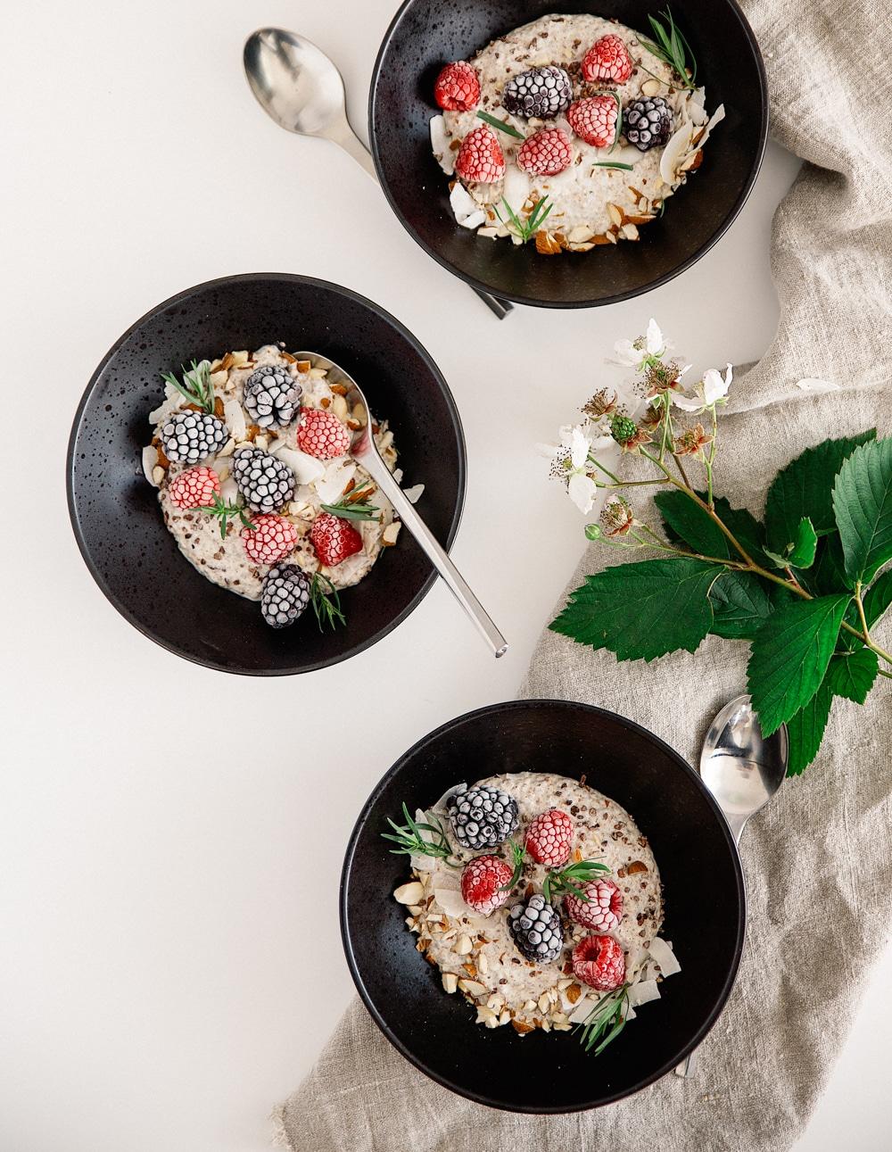 køleskabsgrød, overnight chiagrød, sund morgenmad
