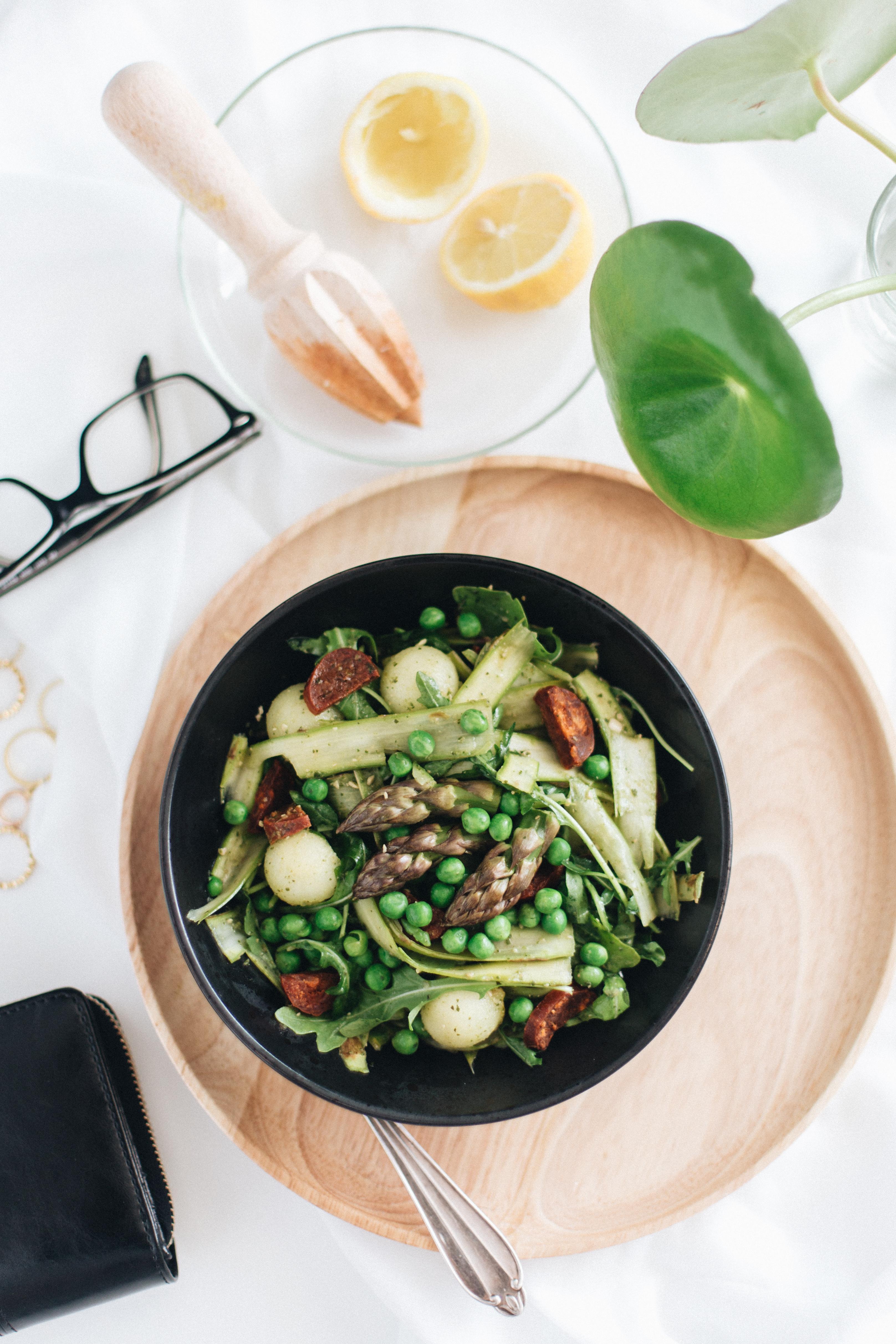 aspargessalat, sunde salater