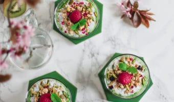 Nem og sund dessert med kiwi