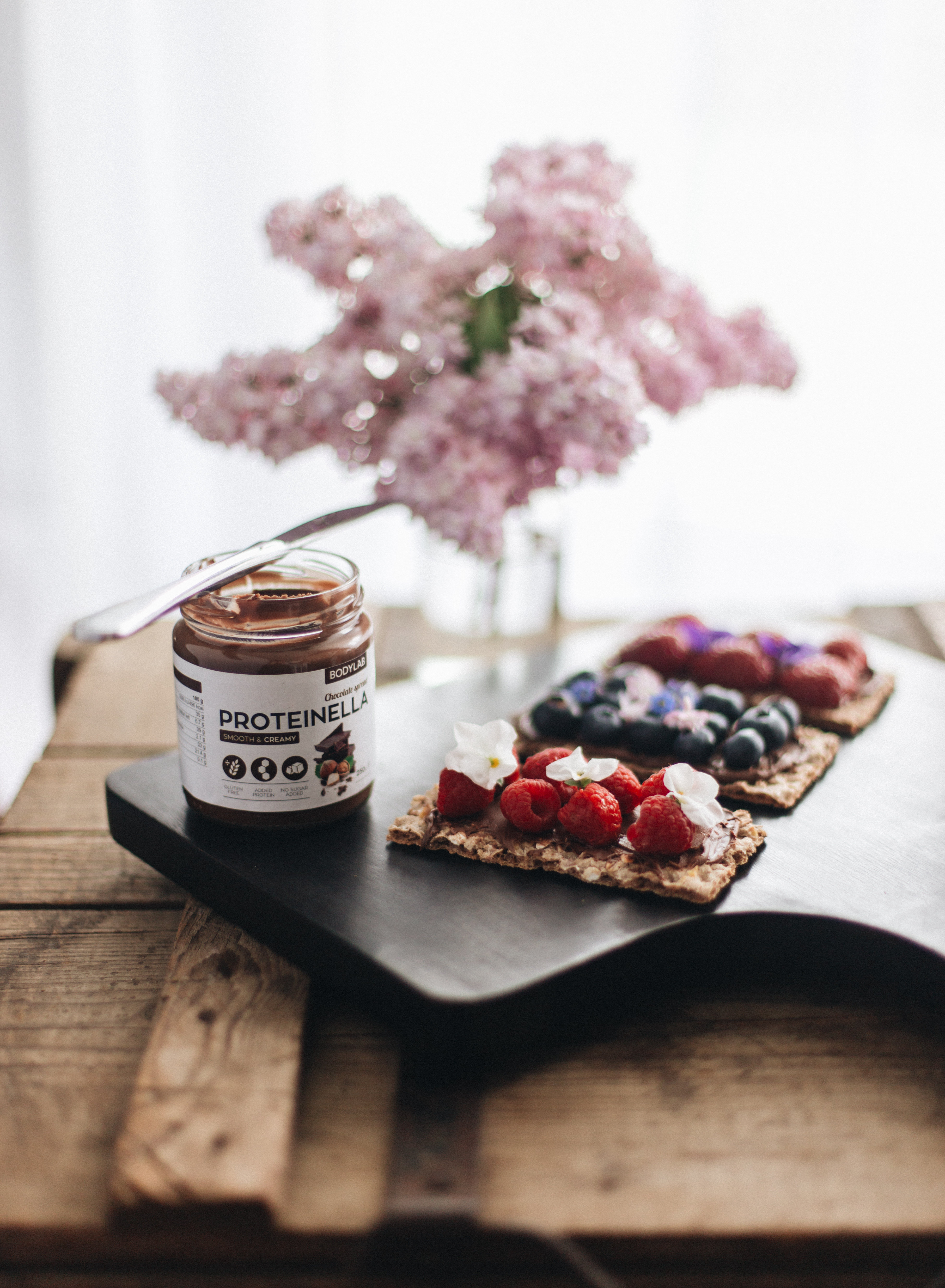 proteinella vs. nutella, sund smørepålæg, sund dessert