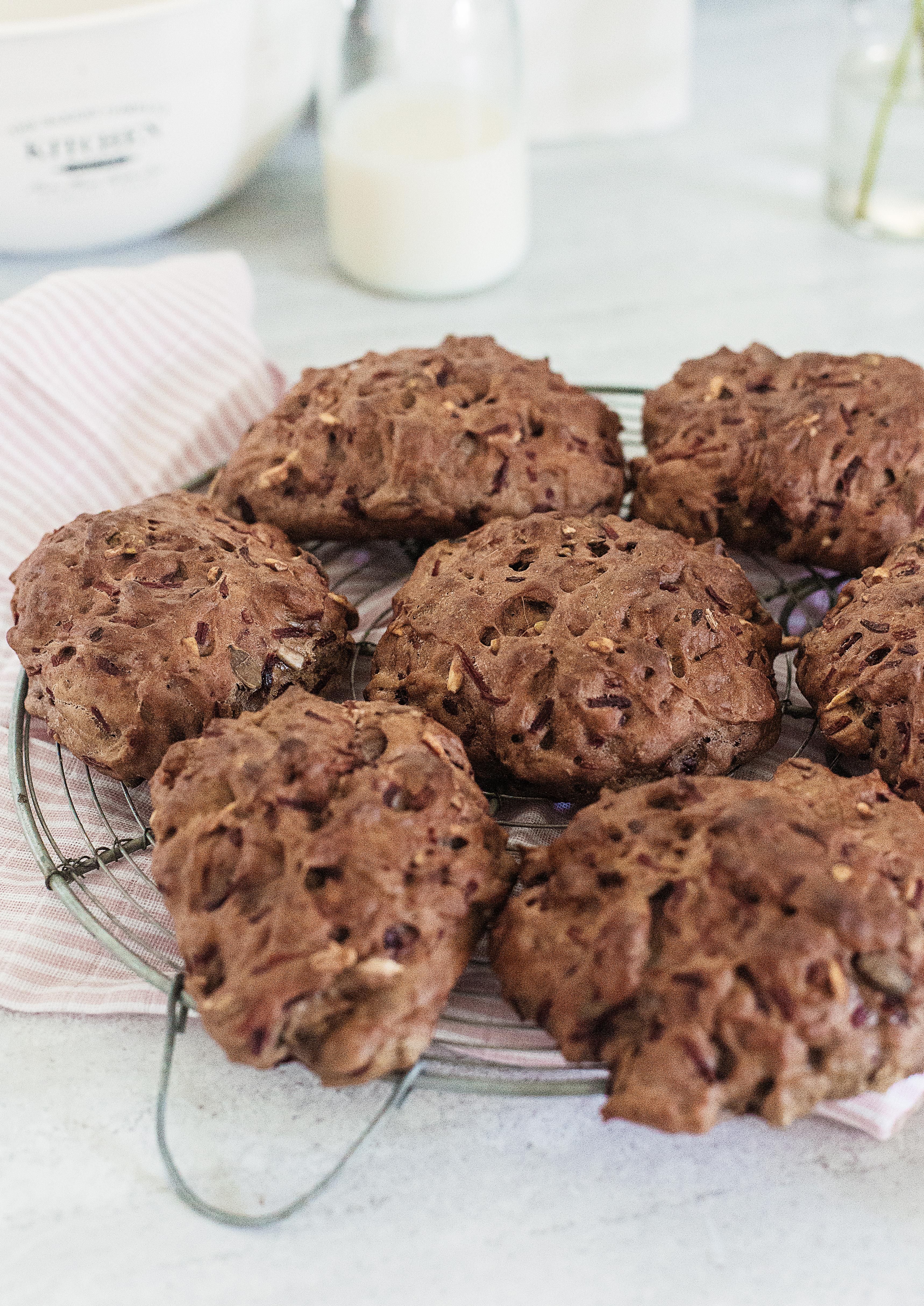 Rustikke rødbedeboller - til morgenmad og frokost